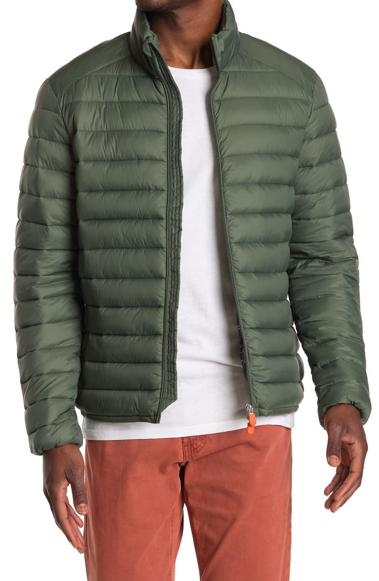 SAVE THE DUCK GIGA Water Resistant Puffer Coat, Main, color, THYME GREEN
