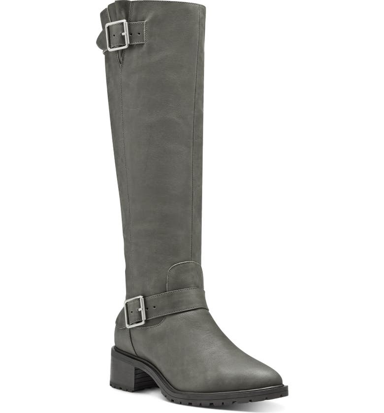 SOLE SOCIETY Jarney Knee High Boot, Main, color, FOSSIL GREY LEATHER