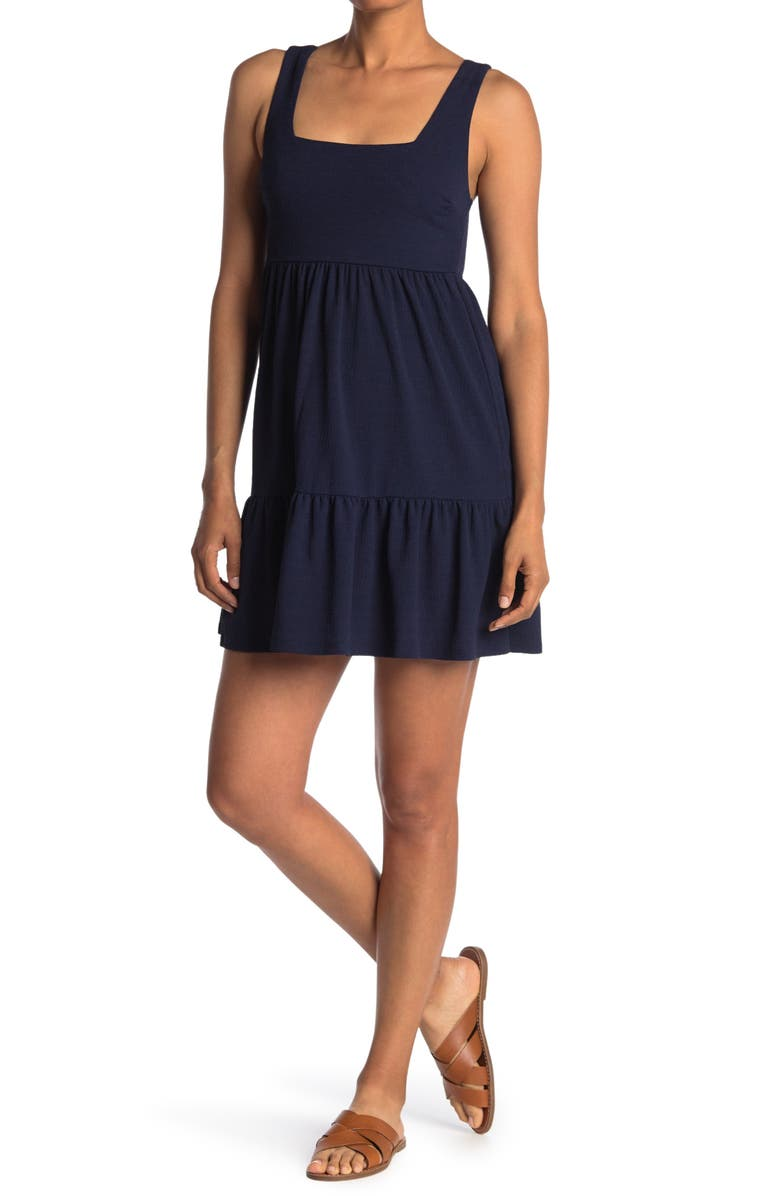 MAX AND ASH Tiered Dress, Main, color, NAVY