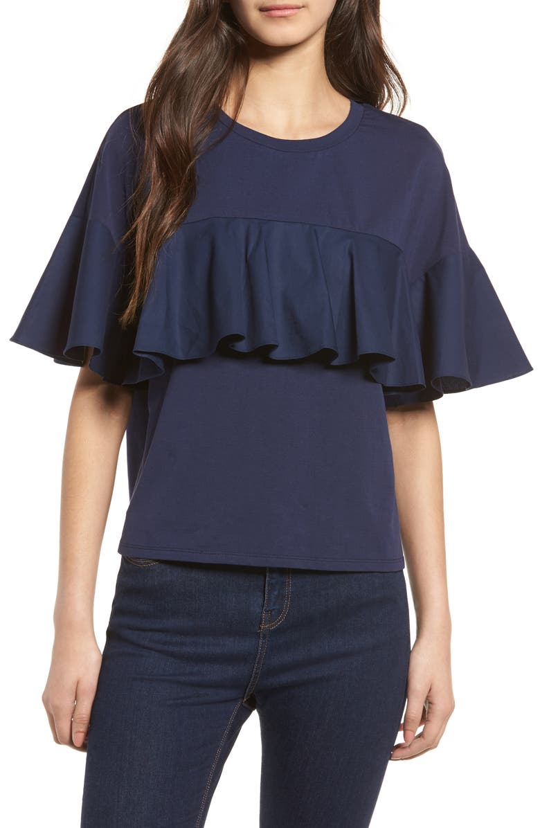 SOPRANO Ruffle Tee, Main, color, 410