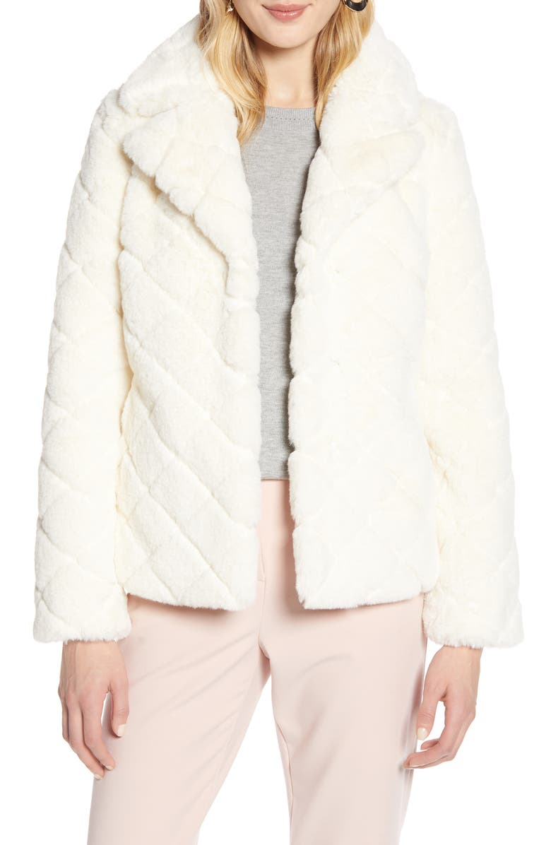 HALOGEN<SUP>®</SUP> Textured Faux Fur Jacket, Main, color, 900
