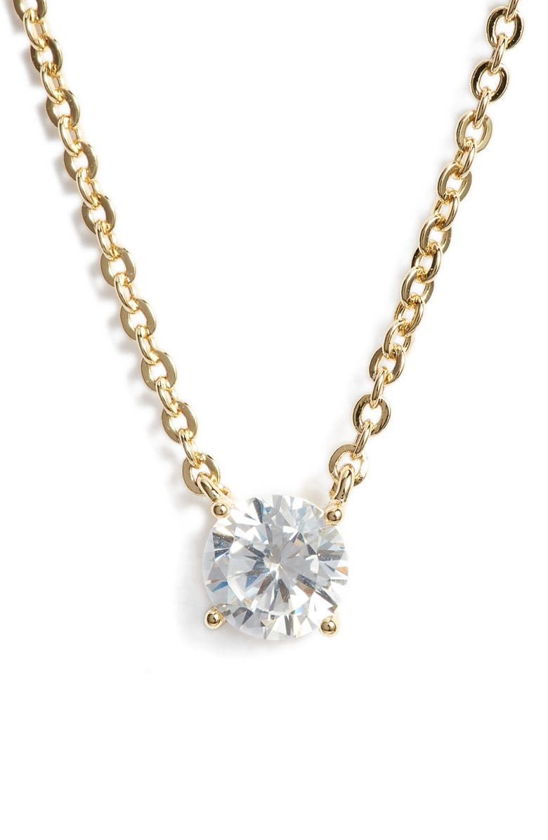 NORDSTROM Cubic Zirconia Pendant Necklace, Main, color, 710