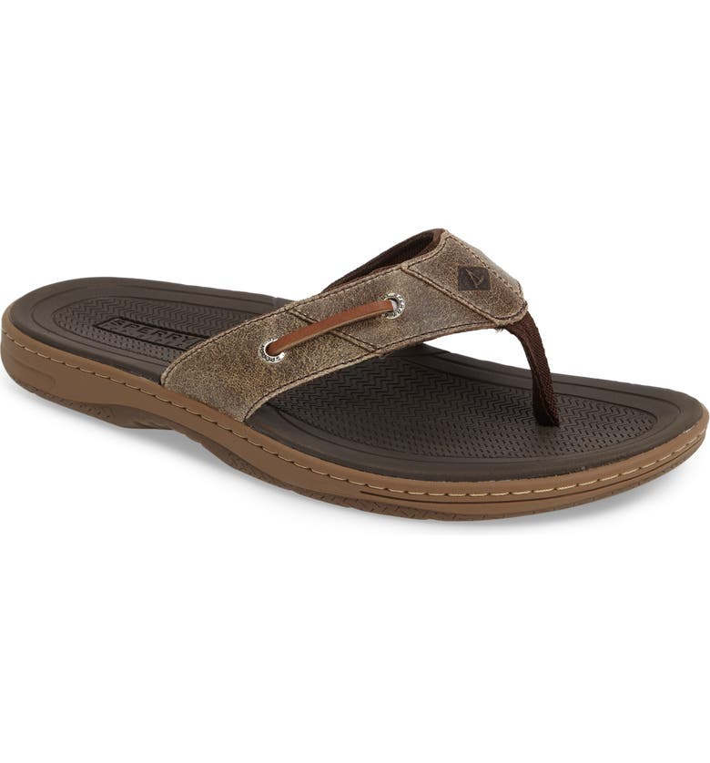 SPERRY KIDS Sperry 'Baitfish' Sandal, Main, color, BROWN/BROWN