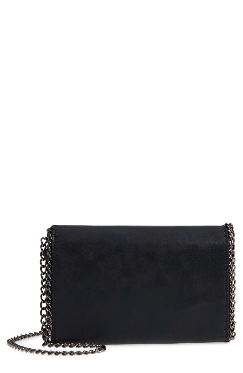 CHELSEA28 Faux Leather Wallet on a Chain, Main, color, 001