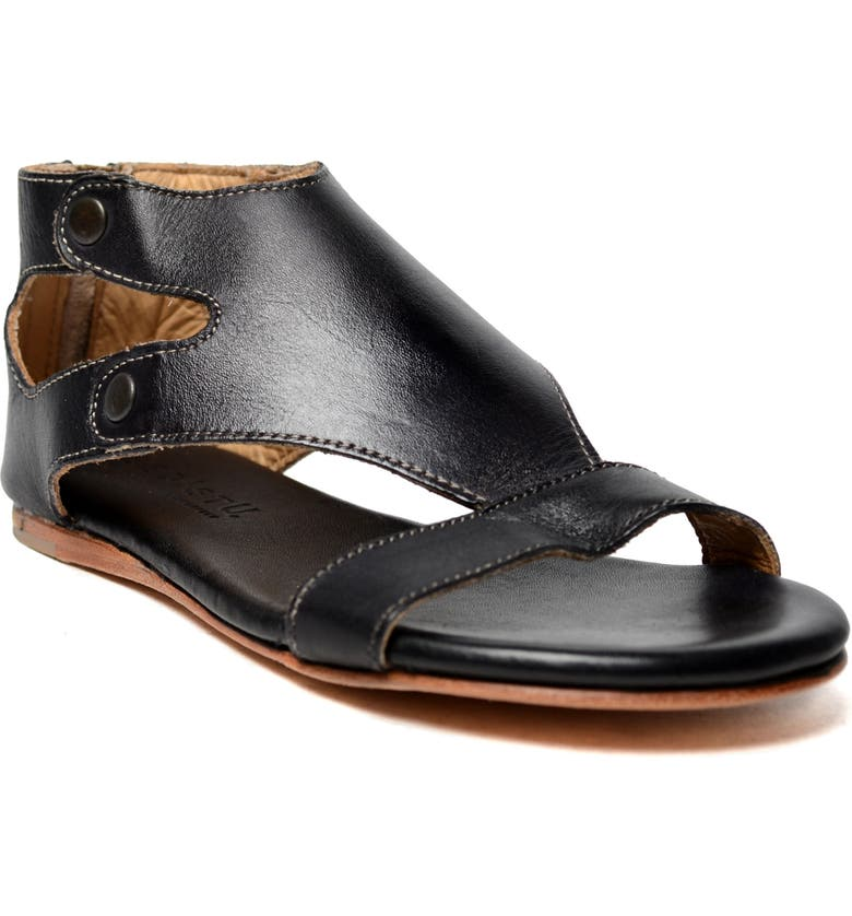 BED STU Soto Sandal, Main, color, BLACK RUSTIC LEATHER