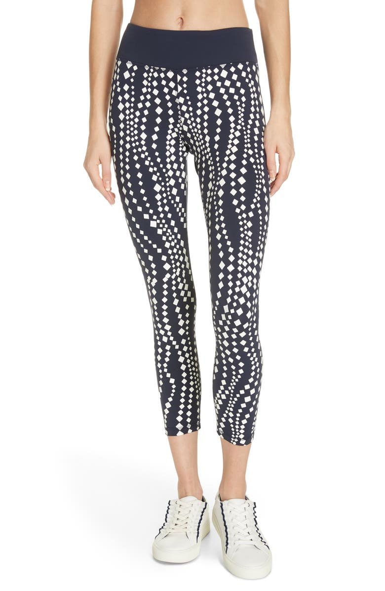 TORY SPORT BY TORY BURCH Tory Sport Reflective Print 7/8 Leggings, Main, color, 451