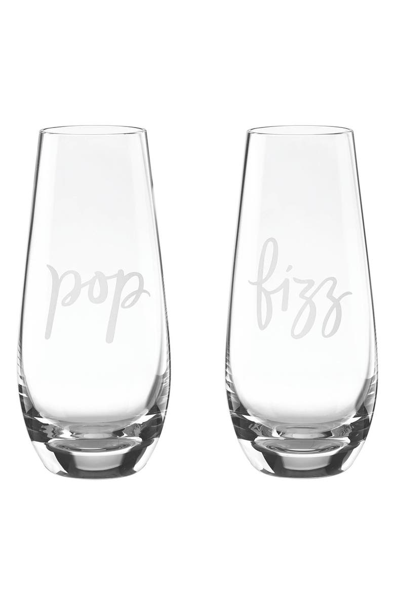 KATE SPADE NEW YORK stemless champagne flutes, Main, color, 000