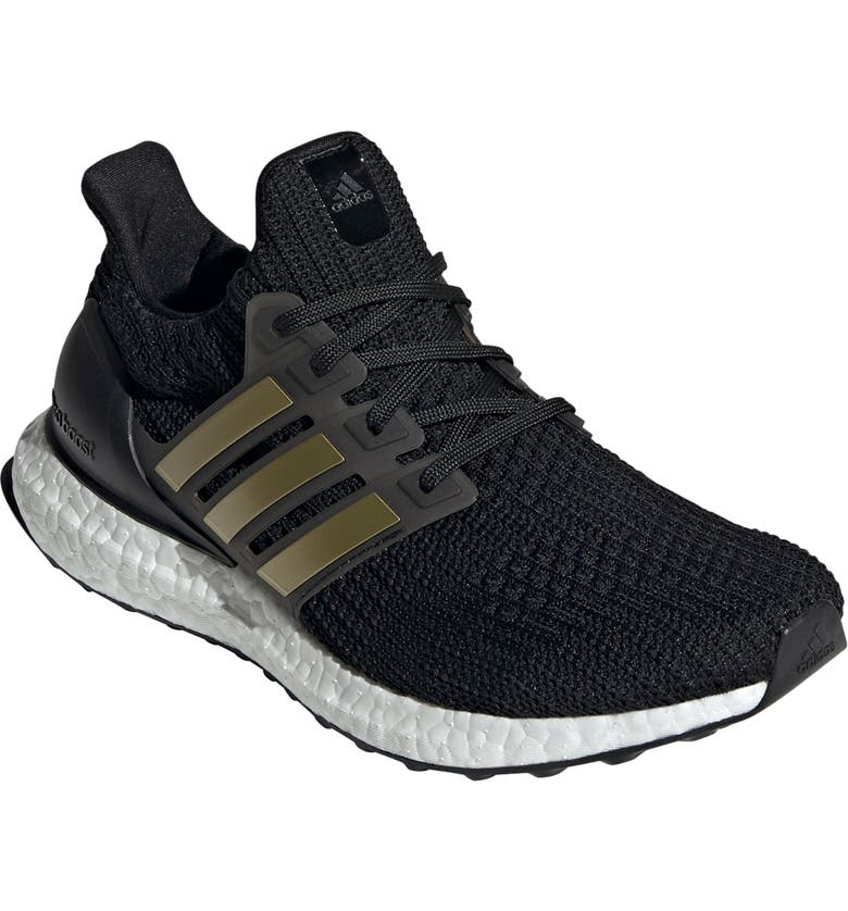 ADIDAS UltraBoost DNA Running Shoe, Main, color, CORE BLACK/ GOLD / WHITE
