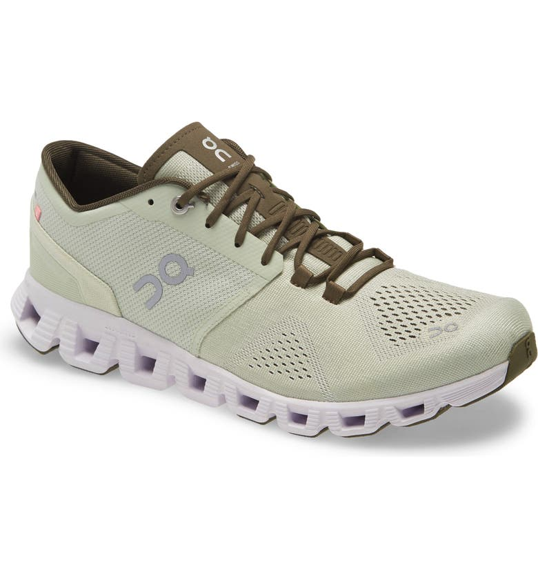 ON Cloud X Training Shoe, Main, color, ALOE/ WHITE