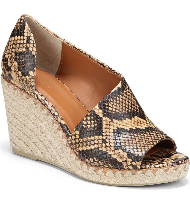 VINCE Sonora Espadrille Wedge, Main, color, TIMBER