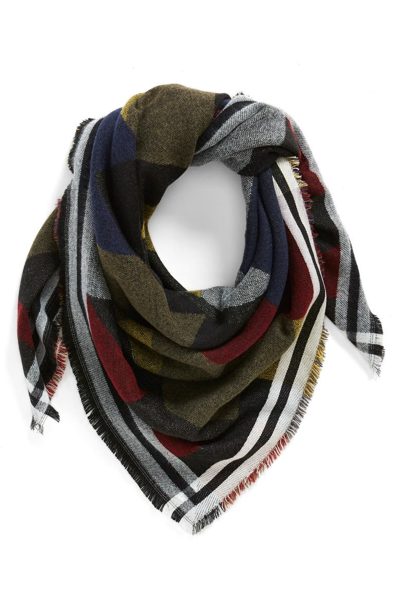 BP. Colorblock Blanket Scarf, Main, color, 410