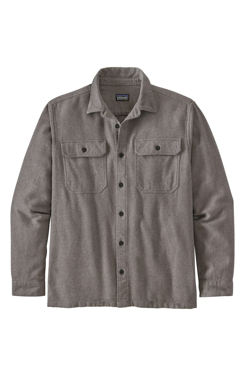PATAGONIA Fjord Regular Fit Organic Cotton Flannel Shirt, Main, color, REWORKED FJORD HEATHER