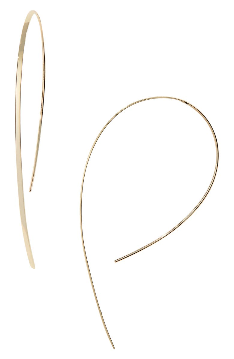 LANA JEWELRY Small Vanity Hooked-On Hoop Earrings, Main, color, YELLOW GOLD