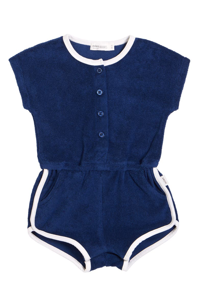 MILES Terry Romper, Main, color, NAVY