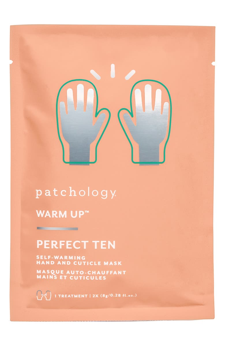 PATCHOLOGY Warm Up<sup>™</sup> Perfect Ten Self-Warming Hand & Cuticle Mask, Main, color, 000