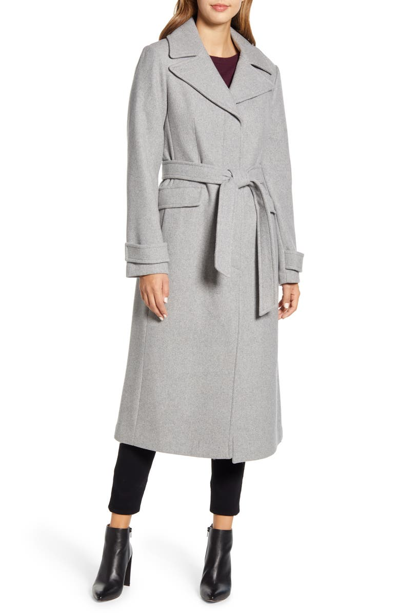 KATE SPADE NEW YORK belted wool blend coat, Main, color, 054