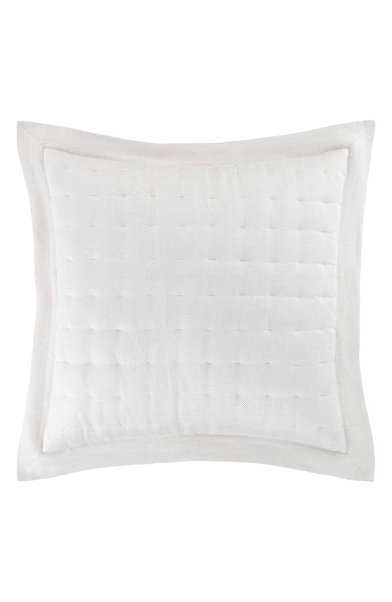 PINE CONE HILL Brussels Quilted Euro Sham, Main, color, NEUTRAL