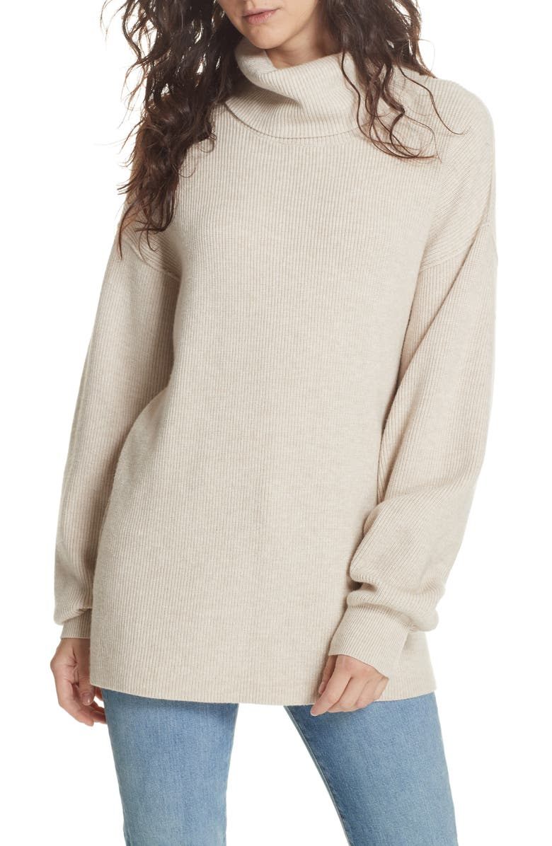 FREE PEOPLE Softly Structured Knit Tunic, Main, color, 903