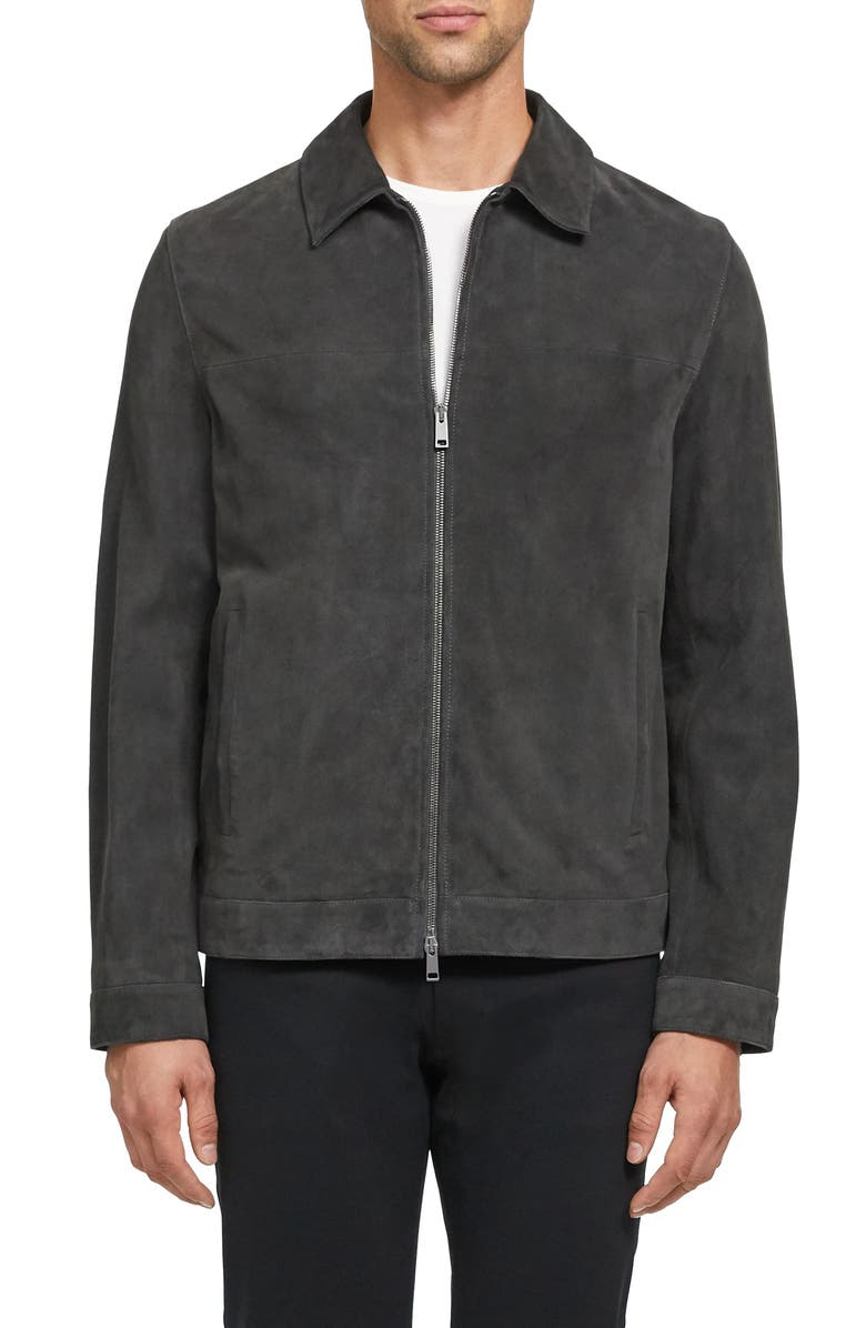 THEORY Roscoe Radic Suede Jacket, Main, color, 096