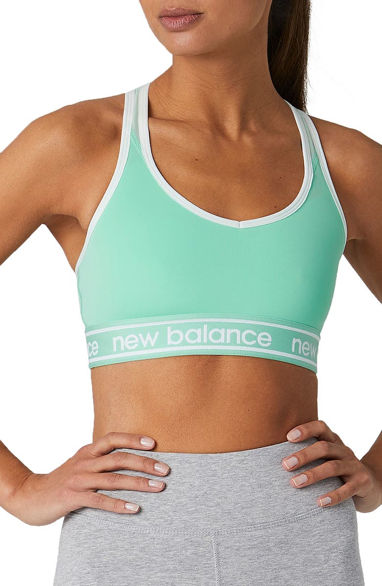 NEW BALANCE Pace Sports Bra, Main, color, MINT