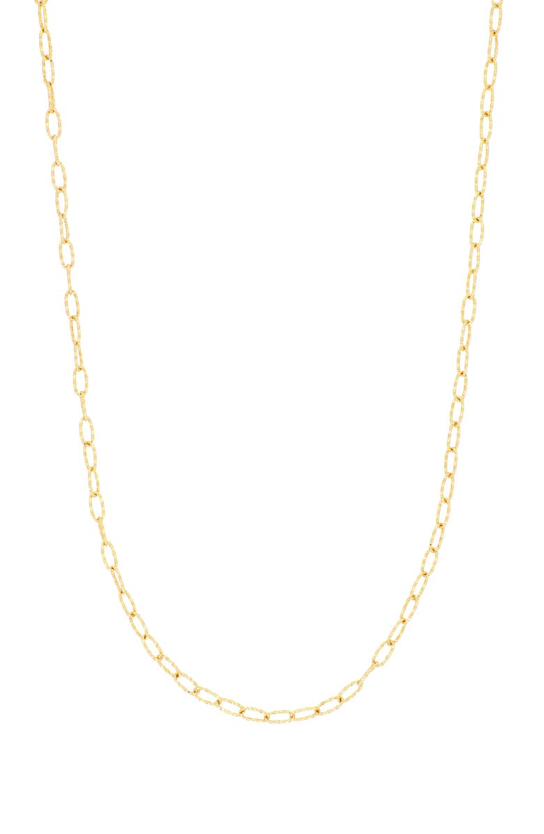 BONY LEVY 14K Gold Textured Link Chain Necklace, Main, color, YELLOW GOLD