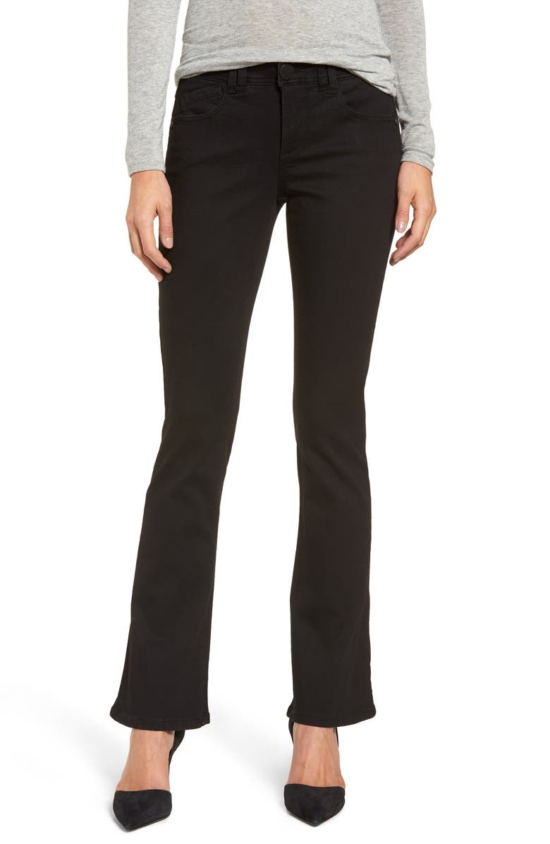 WIT & WISDOM Ab-Solution Itty Bitty Bootcut Jeans, Main, color, BLACK