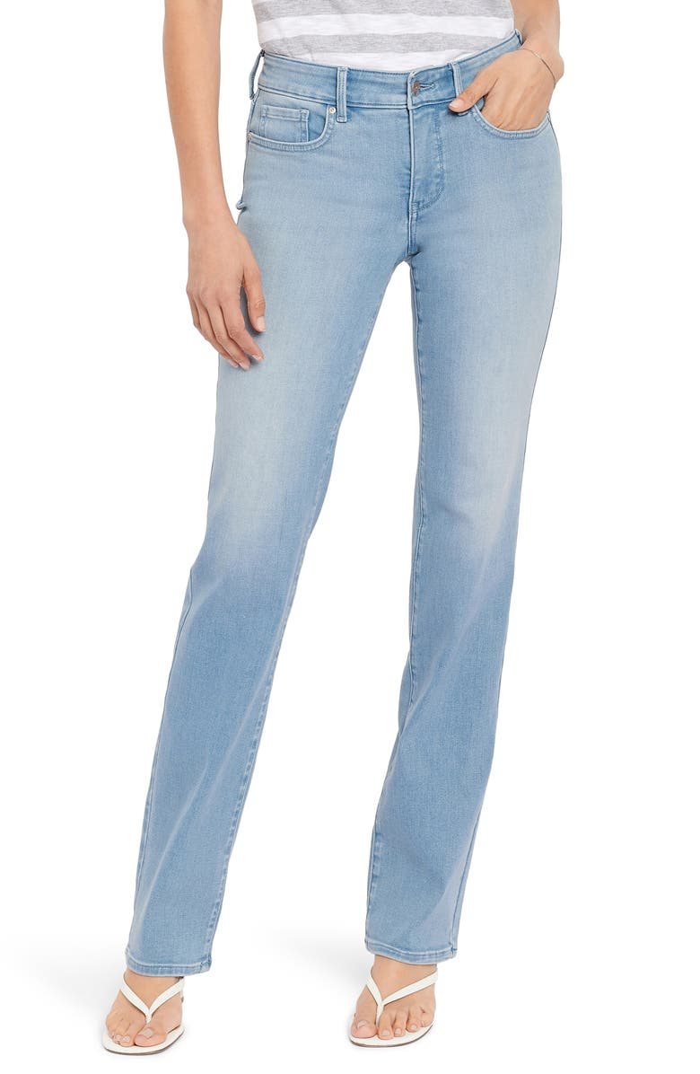 NYDJ Marilyn Stretch Straight Leg Jeans, Main, color, CAMILLE
