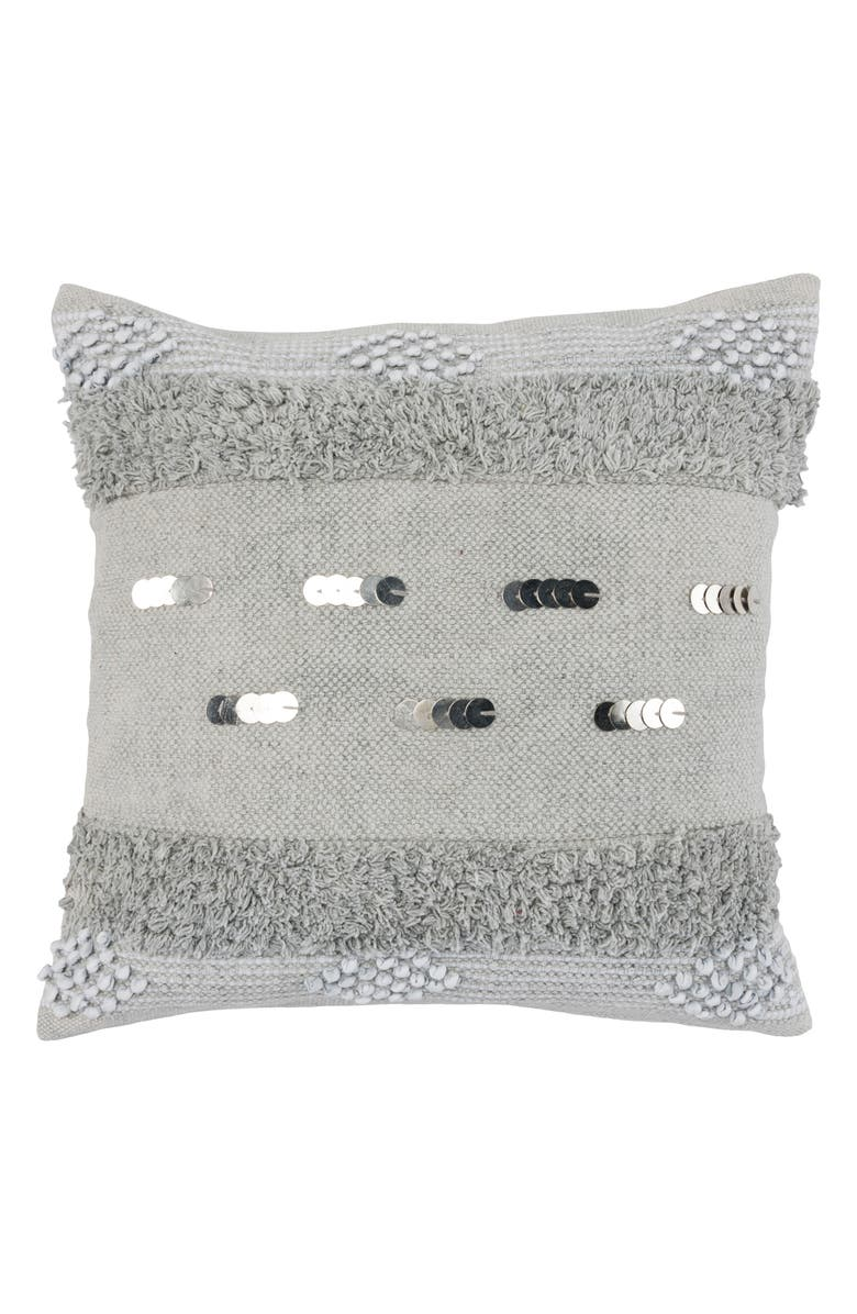 VILLA HOME COLLECTION Seine Beaded Accent Pillow, Main, color, 020