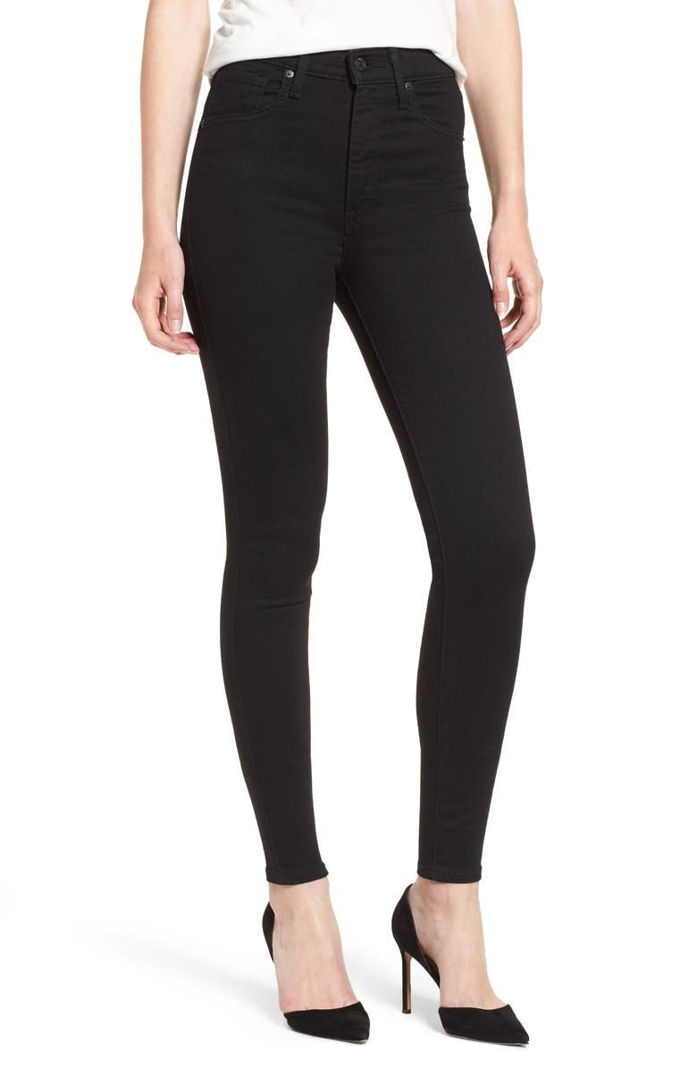 LEVI'S<SUP>®</SUP> Mile High Super Skinny Jeans, Main, color, BLACK GALAXY