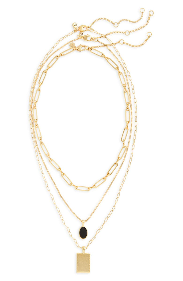 MADEWELL Nightstone Set of 3 Necklaces, Main, color, ONYX MULTI