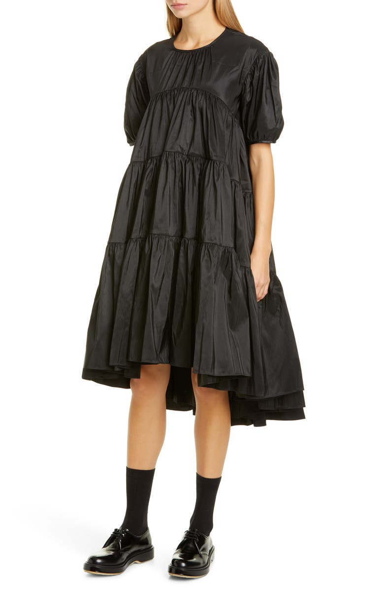 CECILIE BAHNSEN Esmie Tiered Puff Sleeve Dress, Main, color, 001