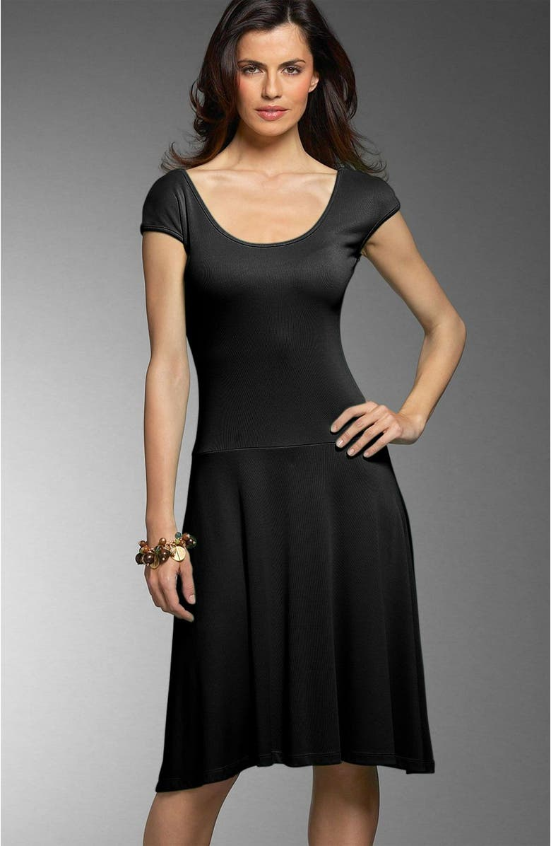 CARILYN VAILE Scoop Dress, Main, color, BLK