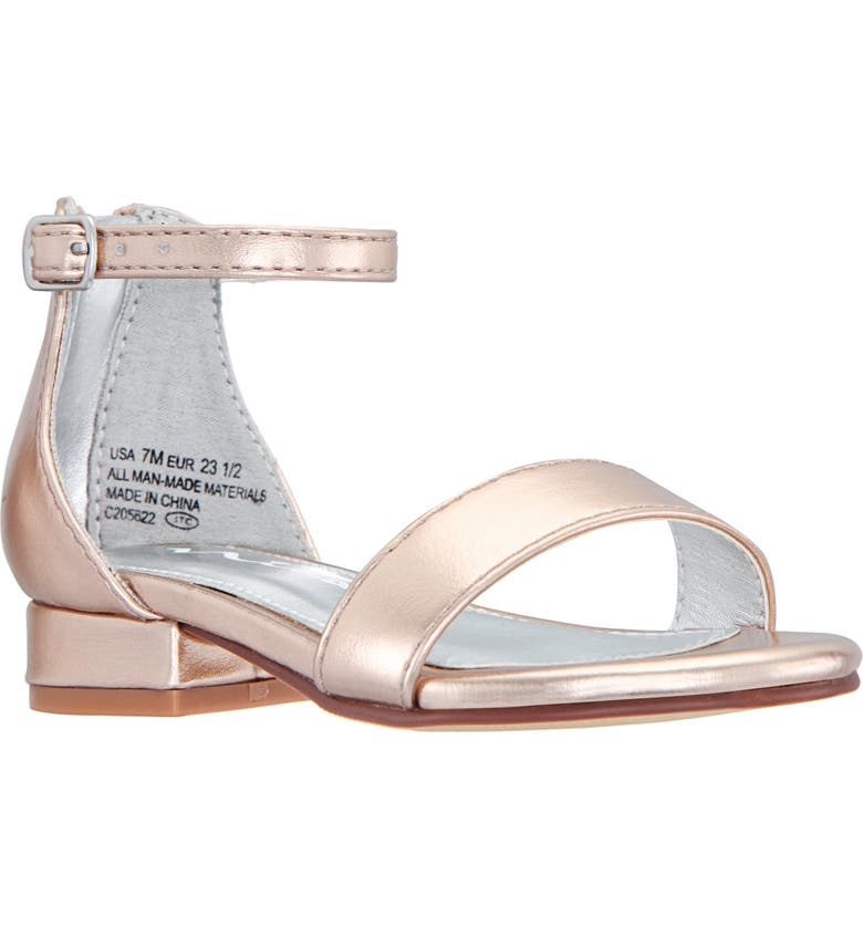 NINA Hidi Sandal, Main, color, ROSE GOLD METALLIC