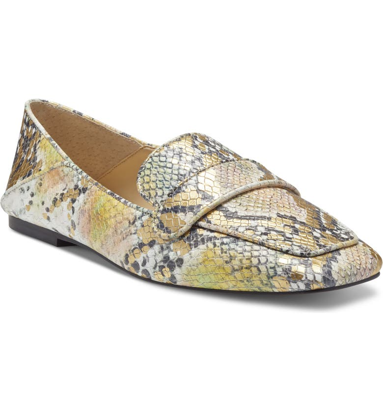 VINCE CAMUTO Landerla Suede Loafer, Main, color, IRIDESCENT MULTI SNAKE