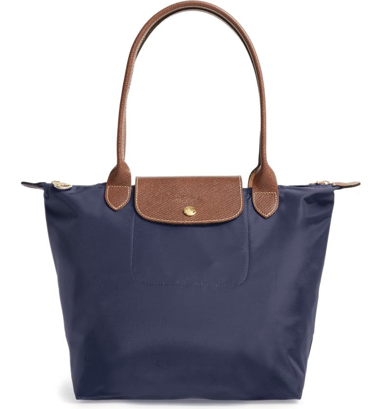 LONGCHAMP Small Le Pliage Nylon Shoulder Tote, Main, color, NEW NAVY
