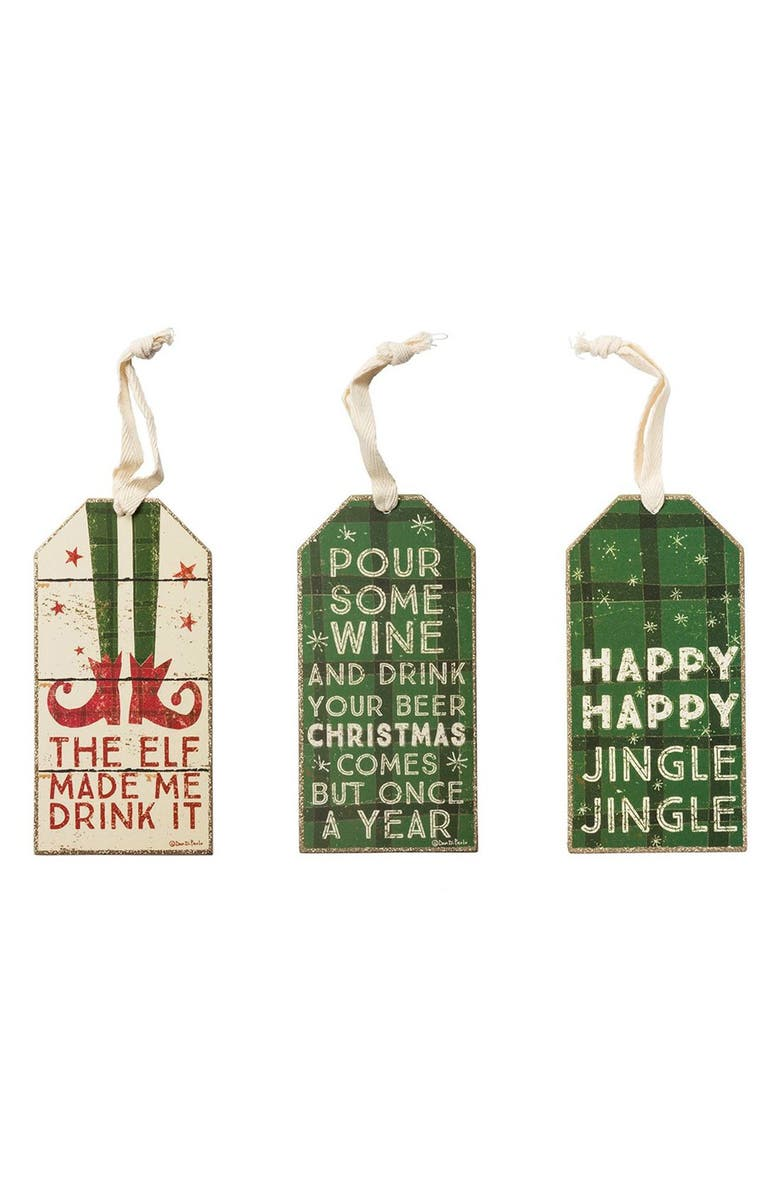 PRIMITIVES BY KATHY Holiday Bottle Tags, Main, color, 300