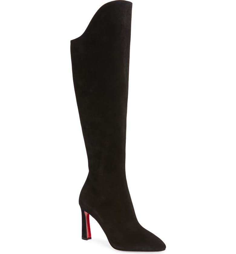 CHRISTIAN LOUBOUTIN Eleonor Knee High Boot, Main, color, BLACK