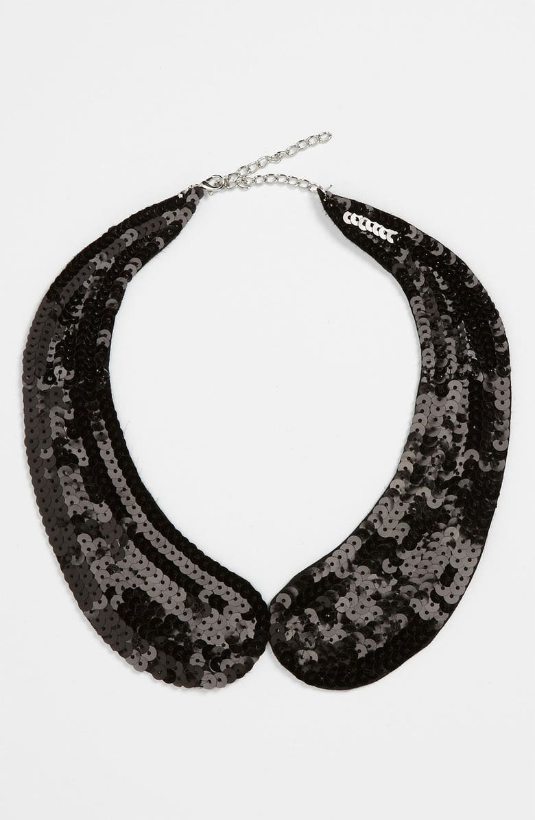 THE ACCESSORY COLLECTIVE Sequin Collar, Main, color, 001