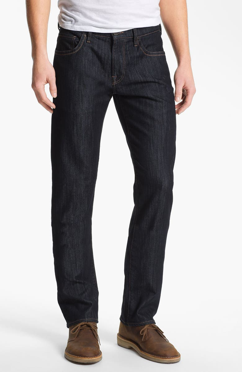 34 HERITAGE 'Courage' Straight Leg Jeans, Main, color, RINSE MERCERIZED WASH