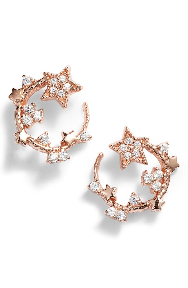 OLIVIA BURTON Celestial Swirl Stud Earrings, Main, color, ROSE GOLD