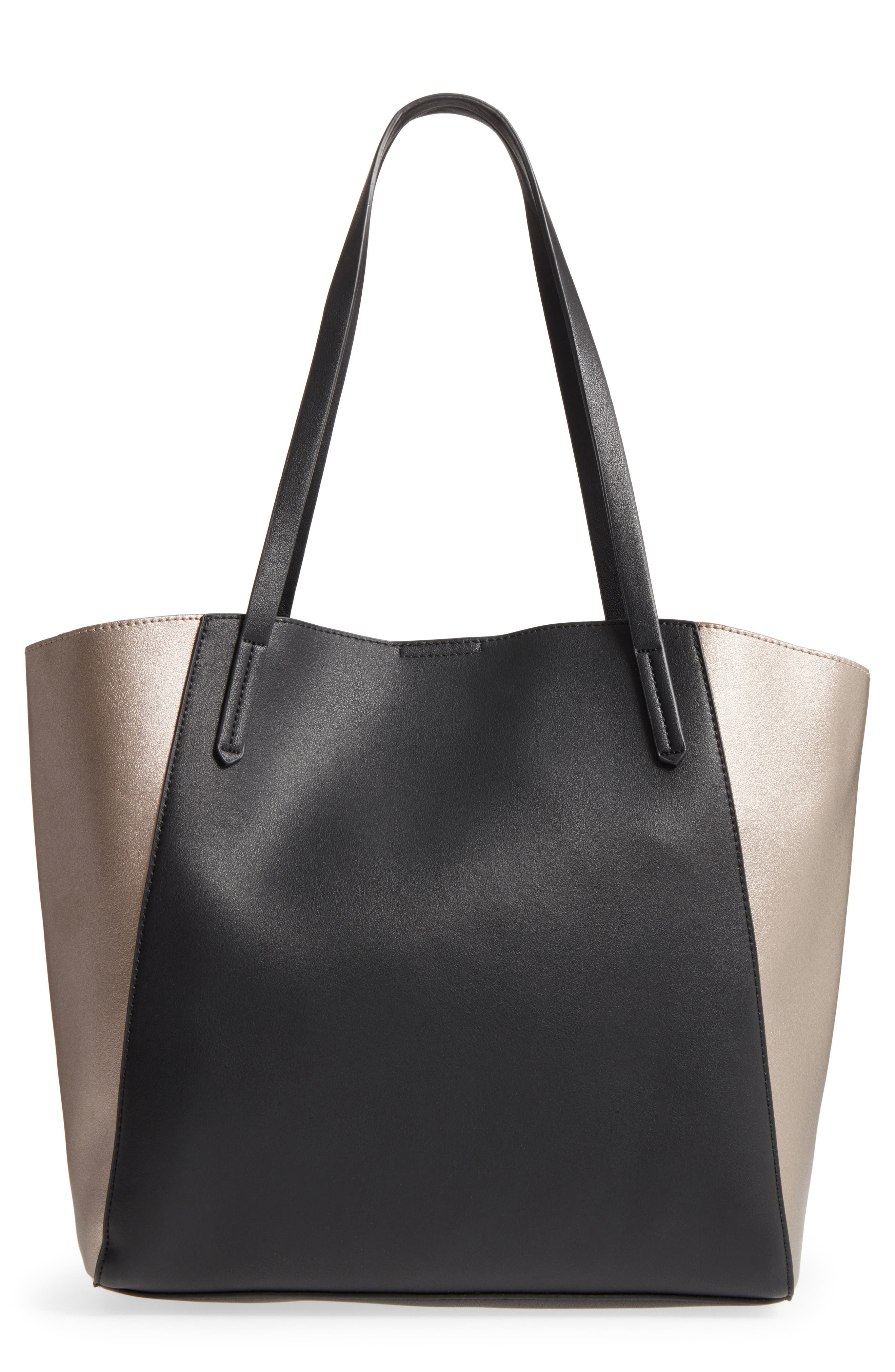 (232) Colorblock Faux Leather Tote