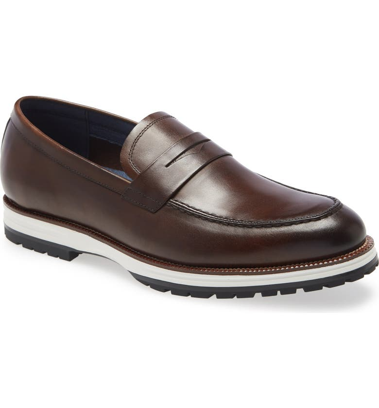 IKE BEHAR Represent Penny Loafer, Main, color, BROWN