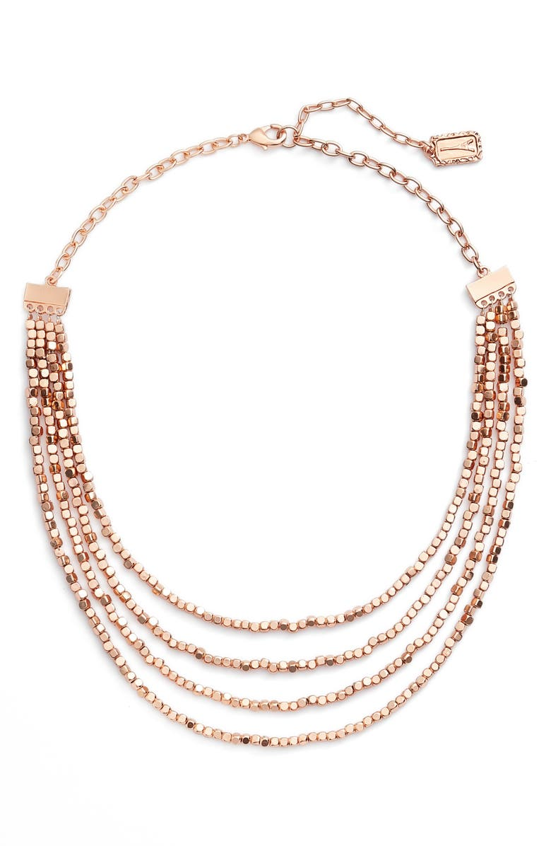 KARINE SULTAN Ava Collar Necklace, Main, color, ROSE GOLD