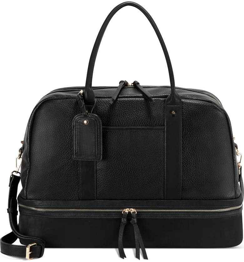 SOLE SOCIETY Mason Faux Leather Travel Satchel, Main, color, 008