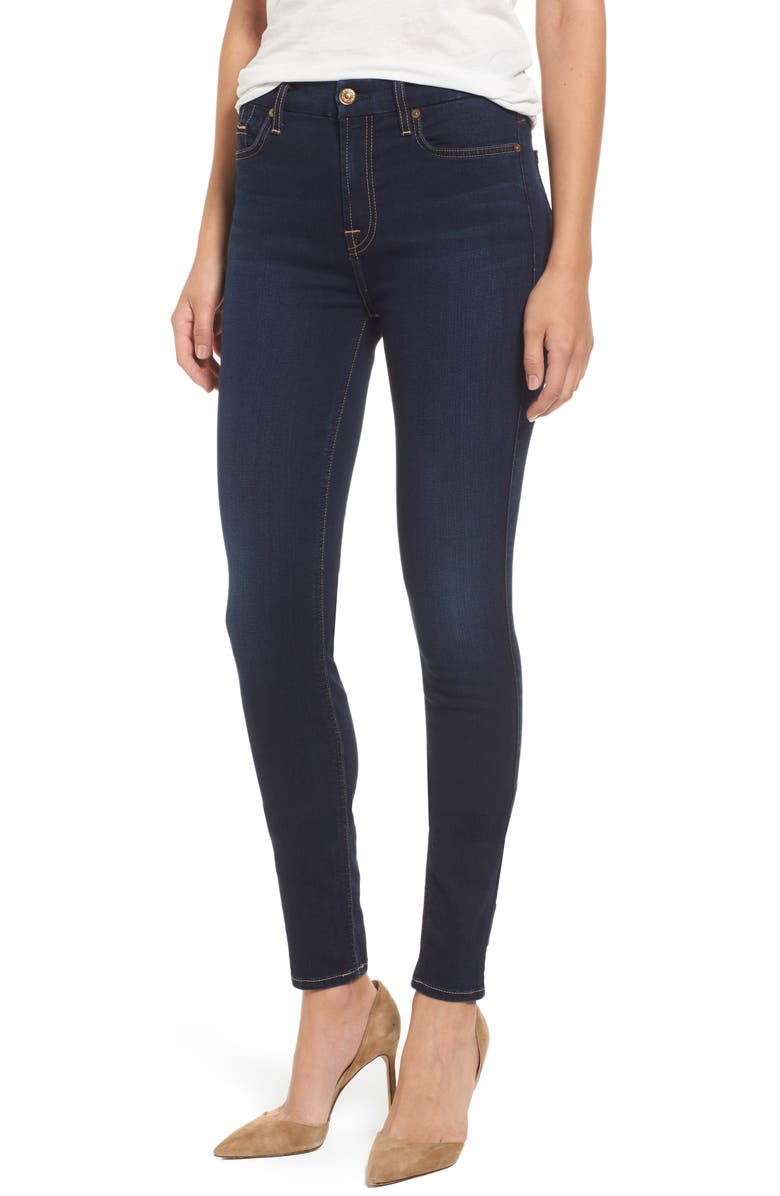 7 FOR ALL MANKIND<SUP>®</SUP> b(air) High Waist Skinny Jeans, Main, color, 400