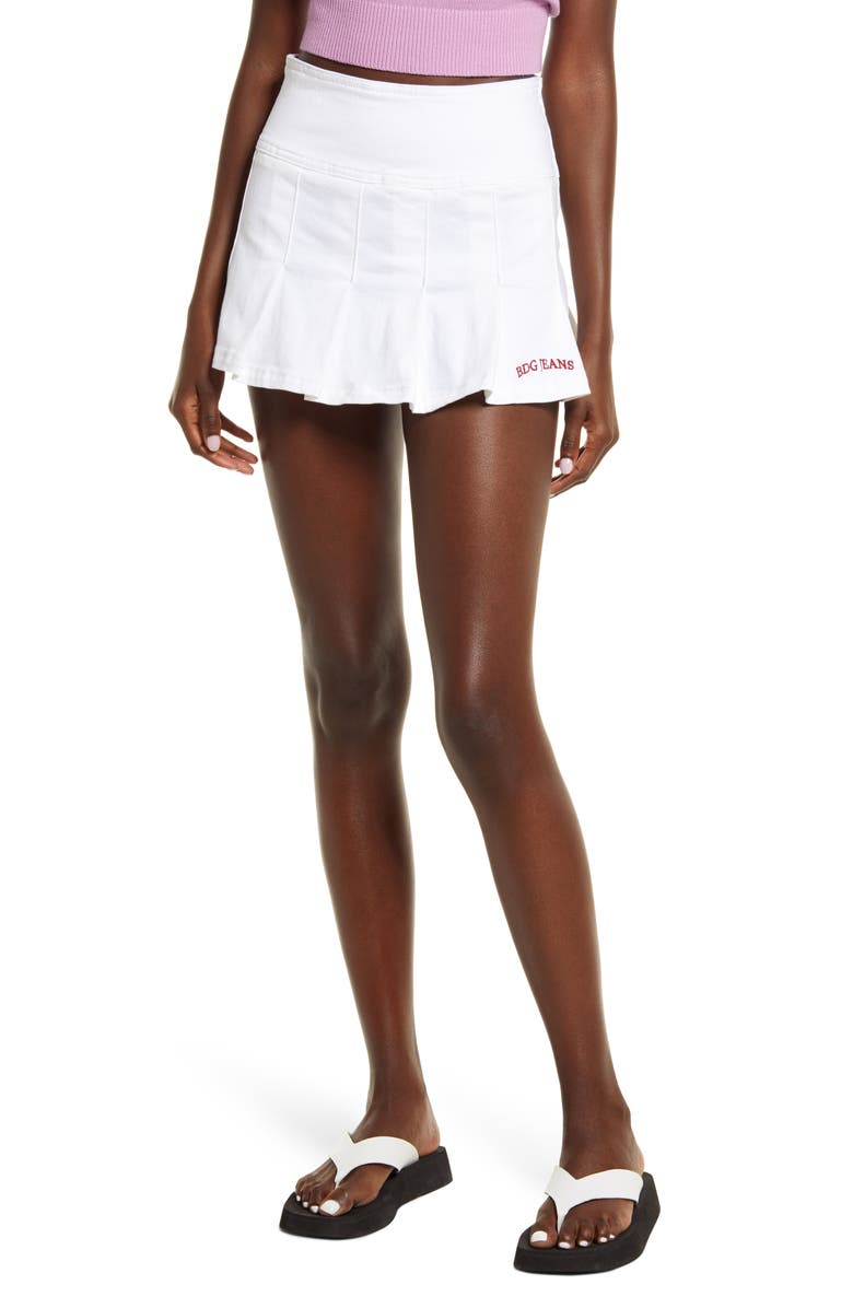BDG URBAN OUTFITTERS Twill Miniskirt, Main, color, OPTIC WHITE