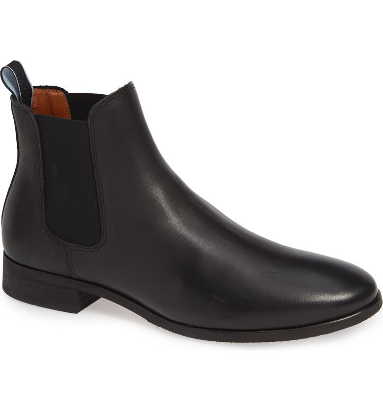 SHOE THE BEAR Arnie Chelsea Boot, Main, color, BLACK LEATHER