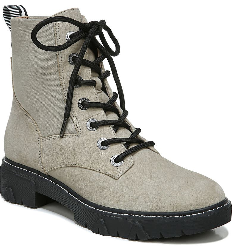 DR. SCHOLL'S Hudson Combat Boot, Main, color, GREEN LEATHER