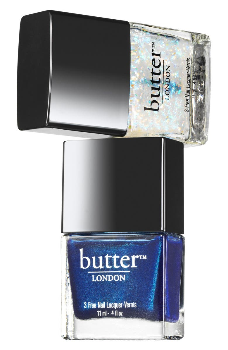 BUTTER LONDON 'Double Take - Ice' Nail Lacquer Duo, Main, color, ICE