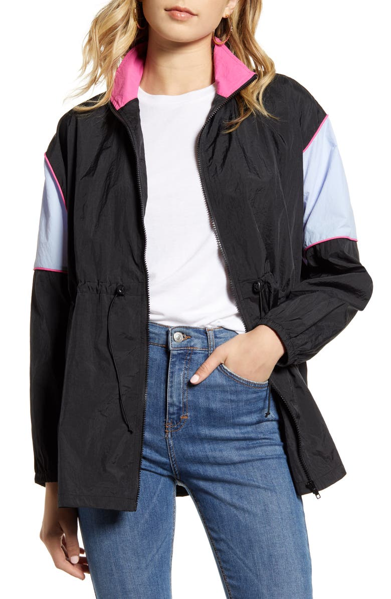 TEN SIXTY SHERMAN Cinched Colorblock Windbreaker Jacket, Main, color, 005